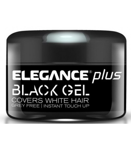 BLACK GEL COVERS WHITE HAIR 100ml. ELEGANCE