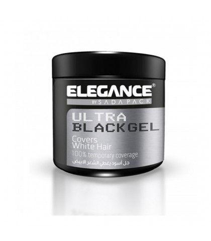 ULTRA BLACK GEL COVERS WHITE HAIR 250ml. ELEGANCE