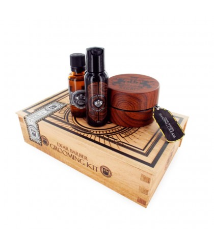 DEAR BARBER KIT CREMA DE TEXTURA + CHAMPU + COLONIA