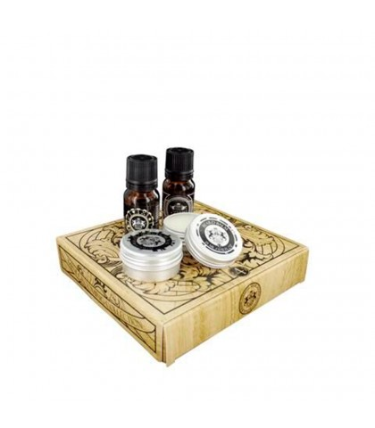 DEAR BARBER KIT MINI ACEITE DE BARBA + CERA BIGOTE + BALSAMO DE BARBA + COLONIA