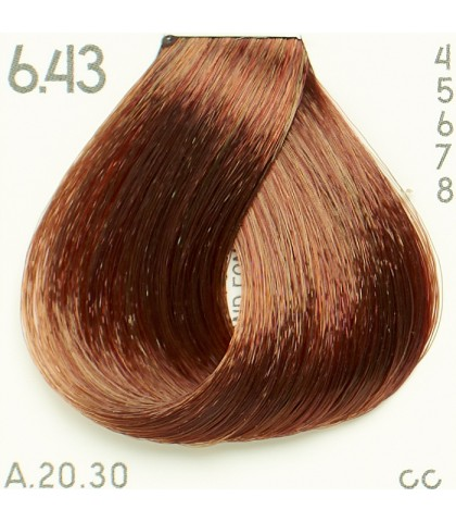 Tinte Piction XL hairconcept 6.43 - Rubio Oscuro Cobre Dorado