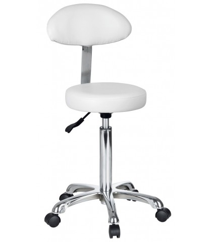 STOOL WITH BACK-FAST + WHITE