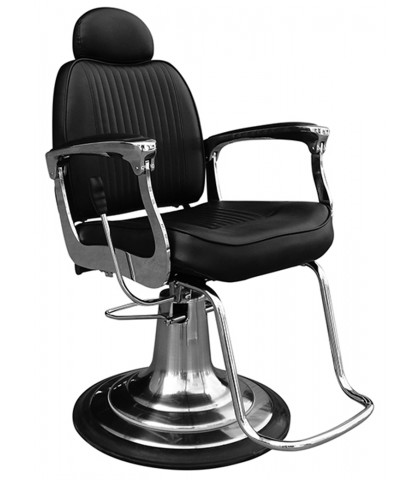 ARM CHAIR TRADITIONAL BARBER BLACK