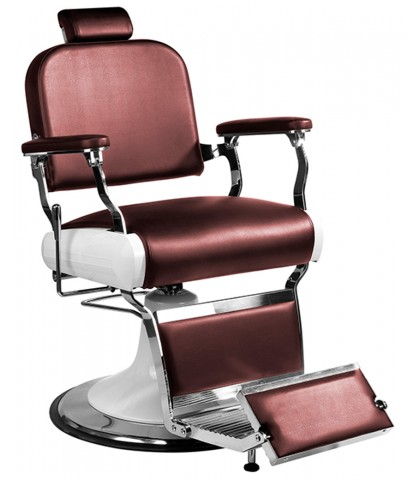 ARM CHAIR RETRO BARBER RED