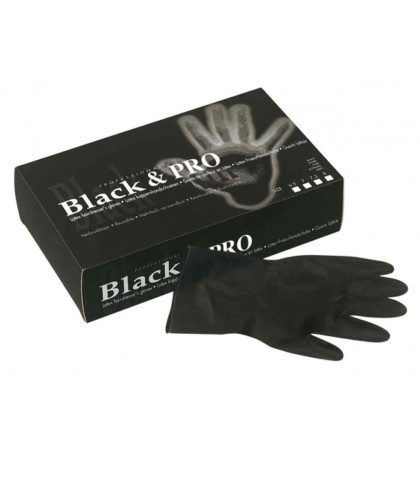 LATEX GLOVES BLACK SIZE MEDIUM